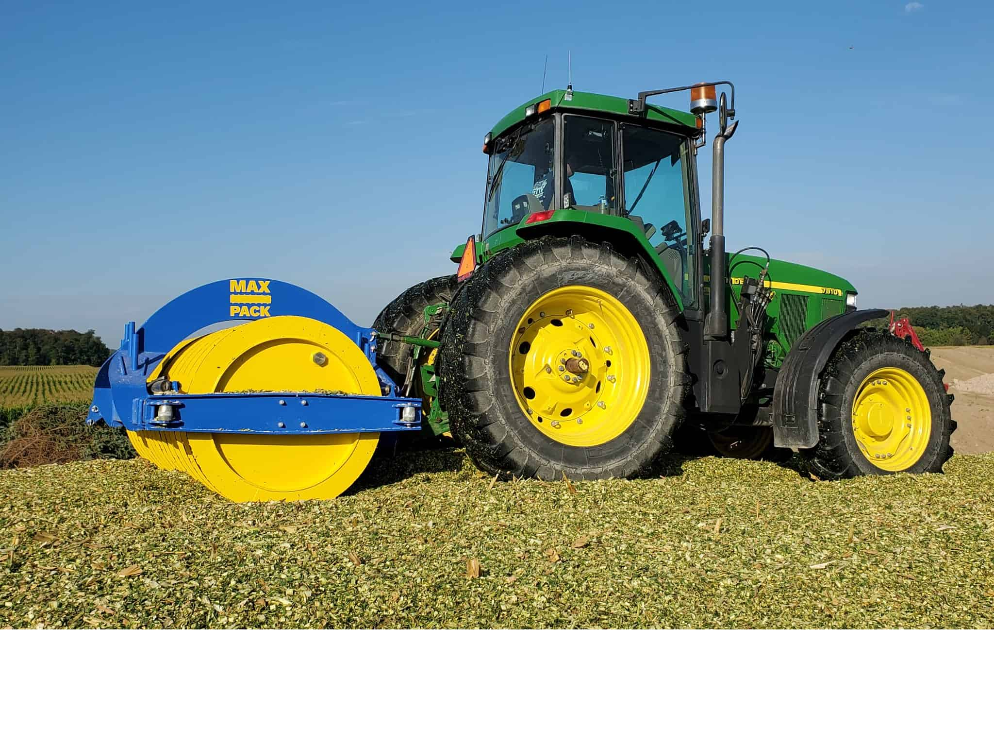Max Pack Silage Compaction Roller for packing down bunk silo silage. Sold in Canada by Zuidervaart Agri-Import Ltd.